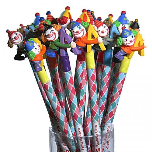 Lápis Decorado Fantasia Circo Com 18 unidades Cis - Cis - Fantasia Circo