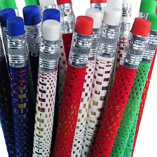Lápis Decorado Fantasia Flocked Color 24 Unidades Cis - Cis - Fantasia Flocked Color
