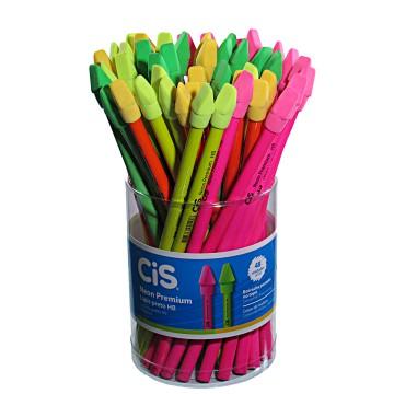 Lápis Decorado Neon Premium Com Borracha 48 Unidades Cis