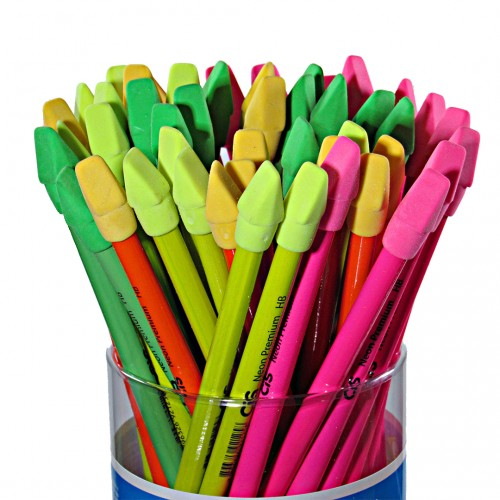 Lápis Decorado Neon Premium Com Borracha 48 Unidades Cis - Cis - Neon Premium