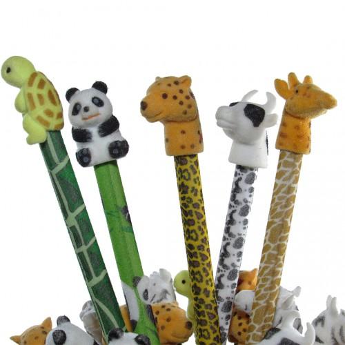 Lápis Decorado Safari Bichinho No Topo 36 unidades Cis - Cis - Safari
