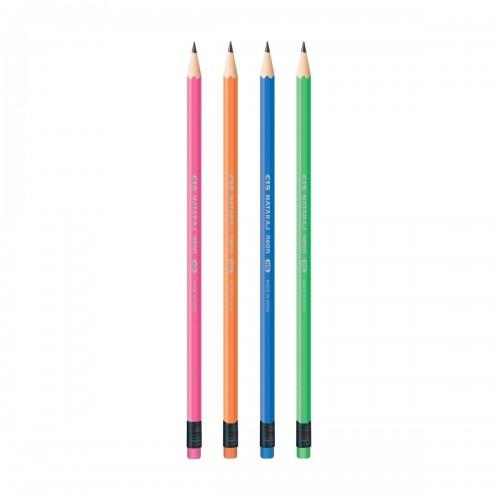 Lápis Decorado Neon Com Borracha 72 Unidades Cis