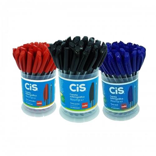 Caneta Esferográfica NeoTip CIS Azul 0.7 mm 50 Unidades - CIS - NeoTip 0.7