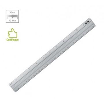 Regua De Aluminio Cis 30cm | 12 Unidades