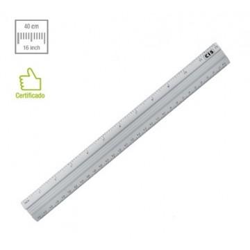 Regua De Aluminio Cis 40cm | 12 Unidades