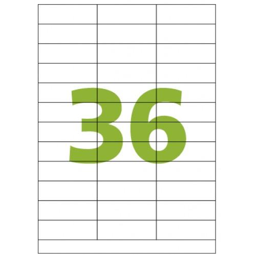 Etiqueta Adesiva A4 CA4336 70 x 23.4 mm 100 Folhas Colacril - ColaCril - CA4336