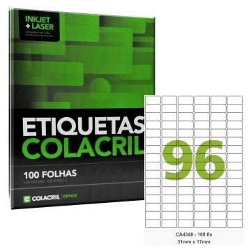 Etiqueta Adesiva A4 CA4348 31 x 17 mm 100 Folhas Colacril
