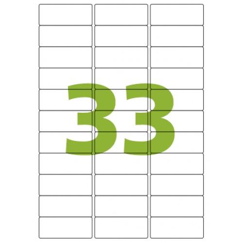 Etiqueta Adesiva A4 CA4356 25,4 x 63,5 mm 100 Folhas Colacril - ColaCril - CA4356