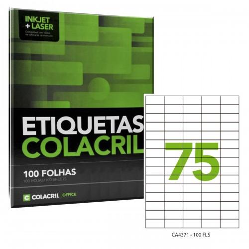 Etiqueta Adesiva A4 CA4371 42 x 19,8 mm 100 Folhas Colacril