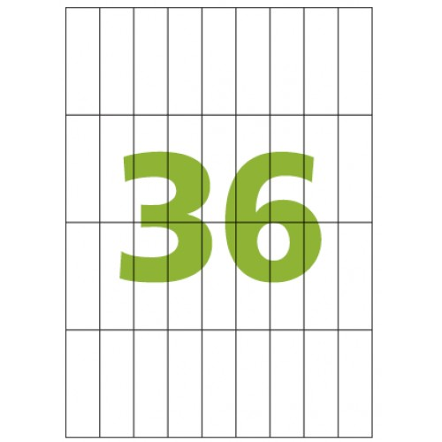 Etiqueta Adesiva A4 CA4374 23,33 x 74,25 mm 100 Folhas Colacril - ColaCril - CA4374