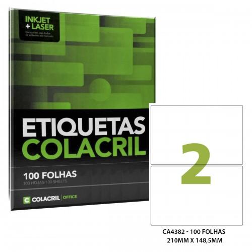 Etiqueta Adesiva A4 CA4382 210 x 148,5mm 100 Folhas Colacril