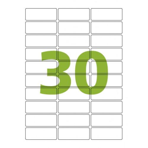 Etiqueta Adesiva Carta CC180  25,4 x 66,7 mm 100 Folhas Colacril - ColaCril - CC180