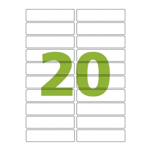 Etiqueta Adesiva Carta CC181 25,4 x 101,6 mm 100 Folhas Colacril - Colacril - CC181