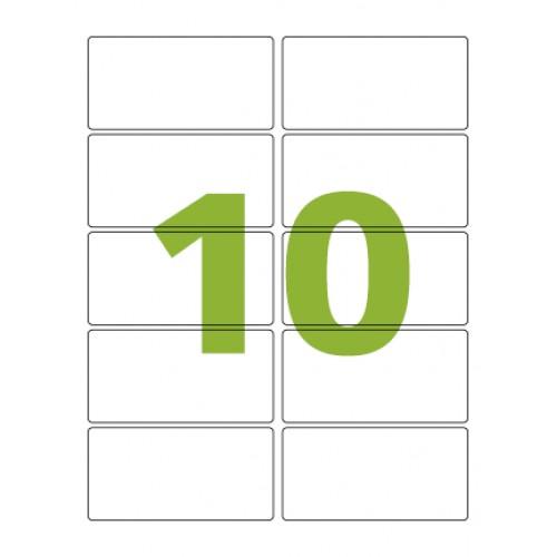 Etiqueta Adesiva Carta CC183 50,8 x 101,6 mm 100 Folhas Colacril - ColaCril - CC183