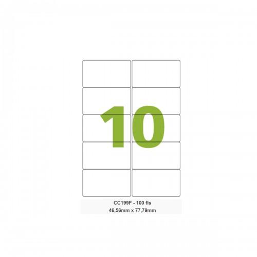 Etiqueta Adesiva Carta CC199F 46,56 x 77,79 mm 100 Folhas Colacril - ColaCril - CC199F