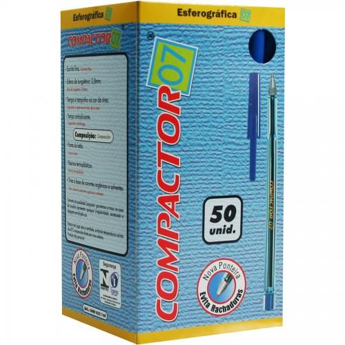 Caneta Esferografica 0.7 Azul Compactor 50 Unidades - Compactor - Compactor 0.7