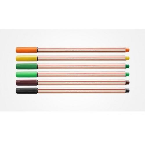 Caneta Com Ponta Porosa Microline 0,4Mm Estojo Com 12 Cores Compactor - Compactor - MicroLine Estojo