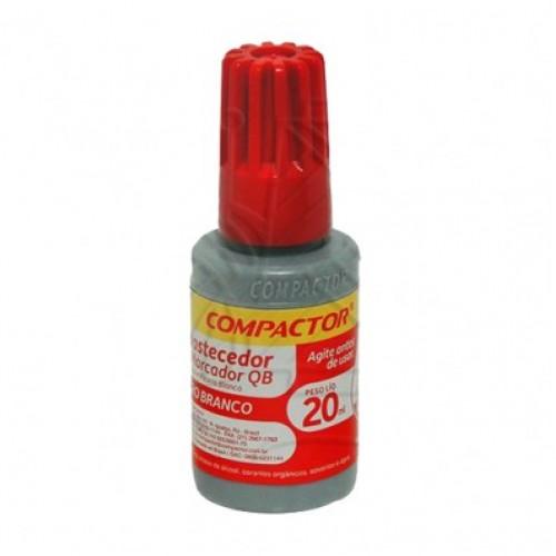 Tinta Marcador Quadro Branco 20ml Vermelho | 12 Unidades - Compactor - QB12