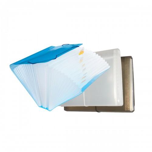 Pasta Sanfona Duplicata Meio Oficio 31 Divisões Azul Dac - DAC - Duplicata Meio Oficio 31 Azul