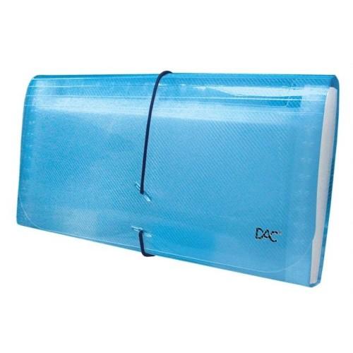 Pasta Sanfona Cheque 12 Divisões Azul Dac - DAC - Sanfonada Cheque 12 Azul