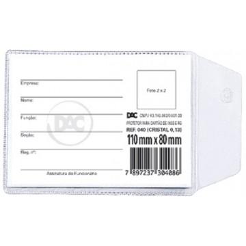 Protetor Plastico Habilitacao 80 X 110 Mm Dac | 100 Unidades