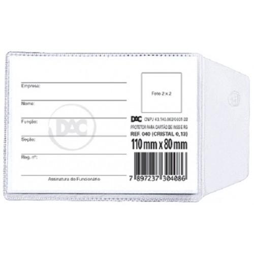 Protetor Plastico Habilitacao 80 X 110 Mm Dac | 100 Unidades - DAC - 80x110