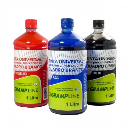 Tinta Para Pincel De Quadro Branco 1 Litro Gramp line Azul - Gramp Line - 1LT
