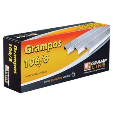 Grampo 106/8  Galvanizado Grampline