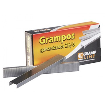 Grampo 26/6 Galvanizado 5000 Grampos Grampline 10 ...