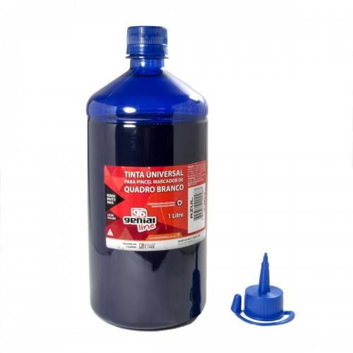 Tinta Genial Para Pincel de Quadro Branco 1 litro Azul - Genial Line - QB-1000-Genial-AZ