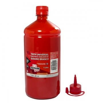 Tinta Genial Para Pincel de Quadro Branco 1 litro Vermelha