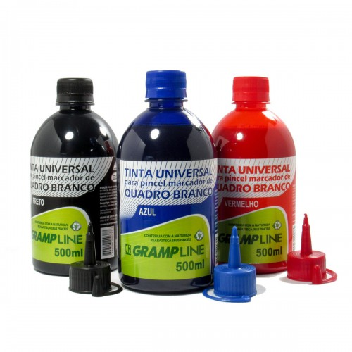 Tinta Para Pincel de Quadro Branco 500 ml Gramp Line Azul - Gramp Line - QB-500AZ
