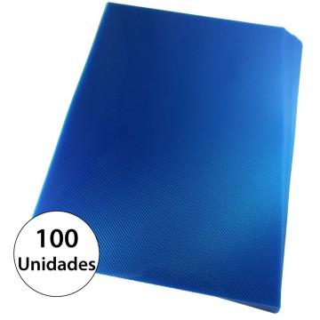 Capa Para Encadernação A4 PP Azul Line Frente Com 100 Unidades