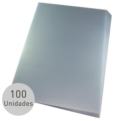 Capa Para Encadernação A4 PP Cristal Couro Frente 100 Unidades - Mares - A4 PP Cristal Couro Frente