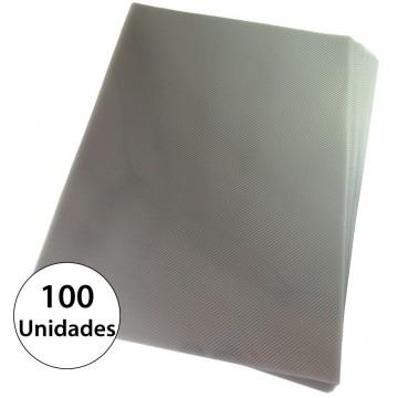 Capa Para Encadernação A4 PP Fume Line Frente 100 unidades