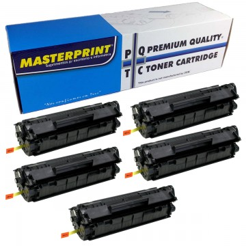 Kit Toner MasterPrint CE285A Compativel HP 85A 35A P1102W 5 Unidades