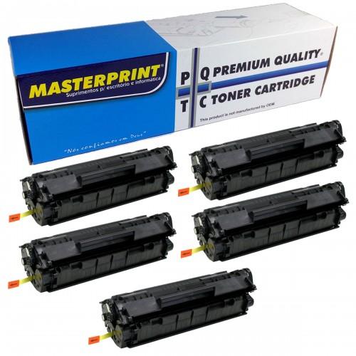 Kit Toner MasterPrint CE285A Compativel HP 85A 35A P1102W 5 Unidades - MasterPrint - 285A 35A 36A 75A