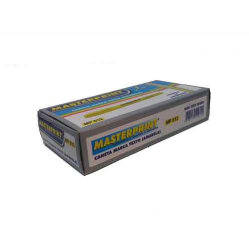 Marca Texto Amarelo Master Print MP612 12 Unidades - MasterPrint - MP612
