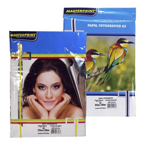 Papel Fotográfico A3 Glossy MasterPrint  20 Folhas