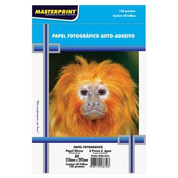 Papel Fotográfico Auto Adesivo Masterprint A4 130 Gramas 50 Folhas