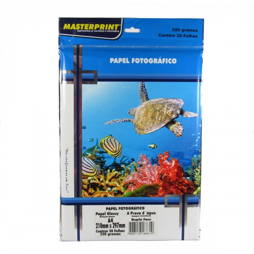 Papel Fotográfico Dupla Face Masterprint A4 220 Gramas 20 Folhas - Masterprint - 7898119188619