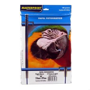 Papel Fotográfico Glossy Masterprint A4 180 Gramas 50 Folhas