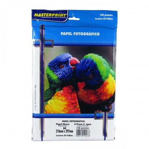 Papel Fotográfico Glossy Masterprint A4 150 Gramas 50 Folhas - Masterprint - 7898119190278