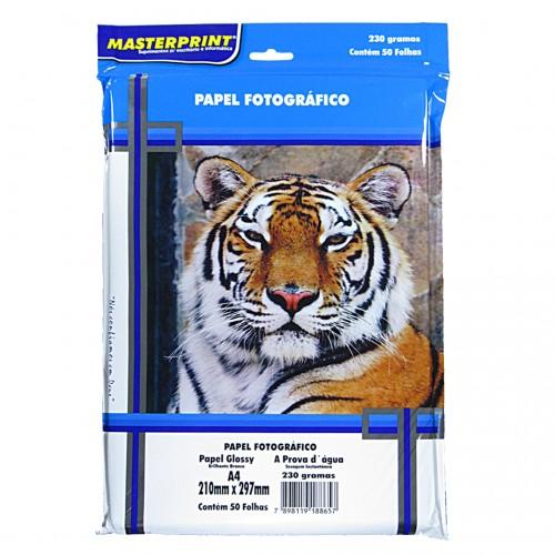 Papel Fotográfico Glossy Masterprint A4 180 Gramas 50 Folhas - Masterprint - A4 180 Gramas