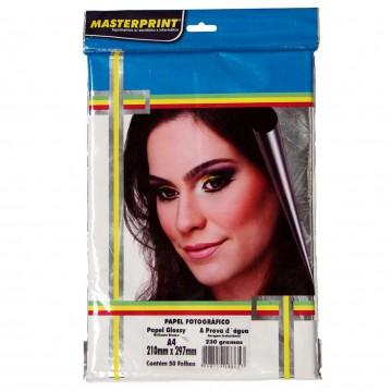 Papel Fotográfico Glossy Masterprint A4 230 Gramas 50 Folhas