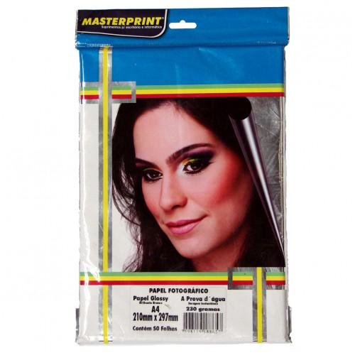 Papel Fotográfico Glossy Masterprint A4 230 Gramas 50 Folhas - Masterprint - 7898119188657