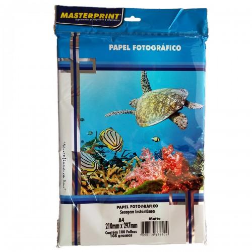 Papel Fotográfico Matte Masterprint A4 108 Gramas 100 Folhas - Masterprint - 7898119178504