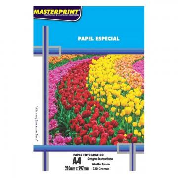 Papel Fotográfico Matte Fosco 230 Gramas A4 100 Folhas Masterprint