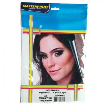 Papel Fotográfico Transfer Claro Masterprint A4 160 Gramas 5 Folhas