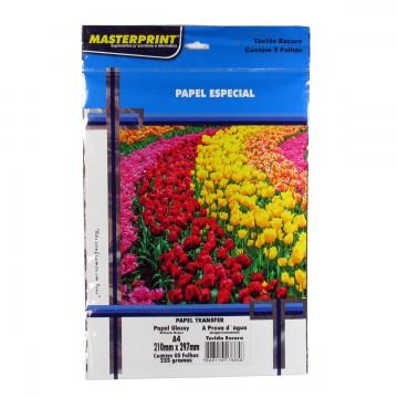 Papel Fotográfico Transfer Escuro Masterprint A4 235 Gramas 5 Folhas